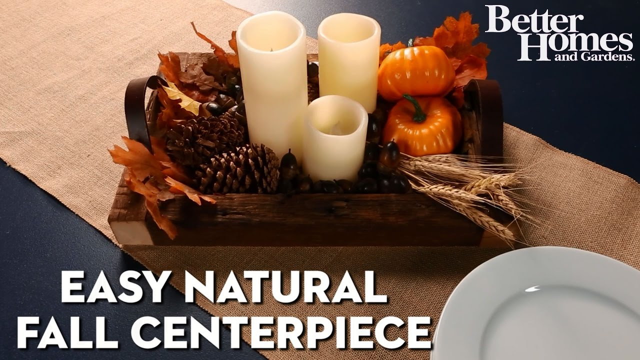 Easy Natural Fall Centerpiece - YouTube