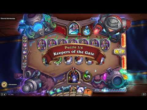 GUIDE: Electra Stormsurge Boomsday Lethal Puzzle Solutions / Answers - FAST (Hearthstone)