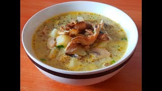 Ну,очень вкусный!Грибной суп с вермишелью.