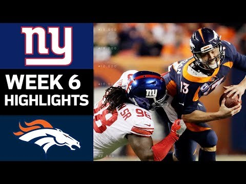 Giants vs. Broncos | NFL Week 6 Game Highlights