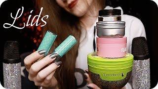 ASMR Pure Lid Sounds (NO TALKING) Ear to Ear Opening & Closing Lids, Lipstick, Makeup, Scrubs Etc. 💋