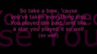 Video Leona Lewis - Take A Bow (lyrics) download MP3, 3GP, MP4, WEBM, AVI, FLV November 2018