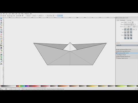 DRAWING ORIGAMI DIAGRAMS WITH INKSCAPE