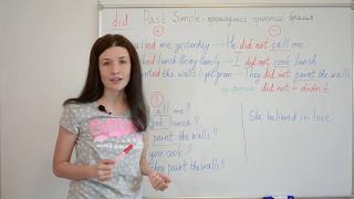 Past Simple. Прошедшее простое время в английском языке.