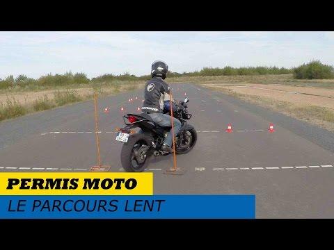 Permis moto : le parcours lent