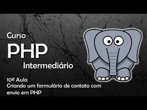 Curso PHP Intermediário - Criando um formulário de contato com  envio em PHP #10