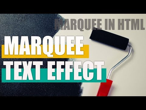 Animated Marquee Text Effect using HTML & CSS - Marquee in HTML
