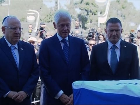 Raw: Bill Clinton Pays Respects to Shimon Peres