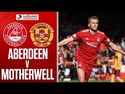 Aberdeen 1-0 Motherwell | James Wilson First Goal For The Reds! | Ladbrokes Premiership