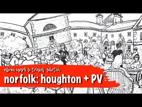 Paint Out Norfolk - Houghton Hall + Preview