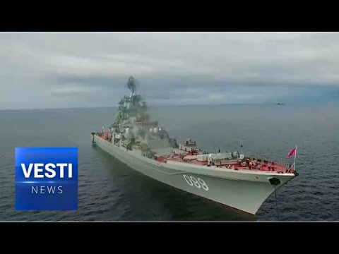 """Navy Day: """"Dmitriy Donskoy"""" and """"Peter the Great"""" Arrived in Kronstadt"""