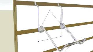 Slatwall Wire Easel Display.avi