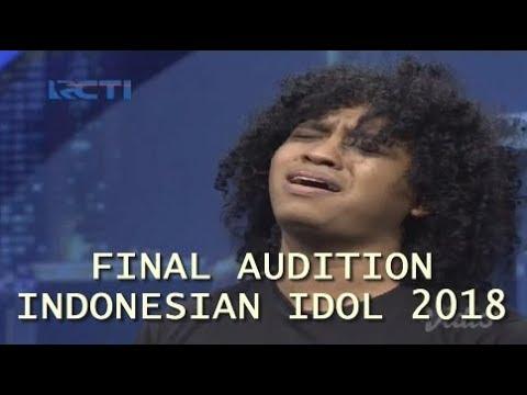 Veritas, Anak NTT, Lolos Setelah Bawakan Lagu 'KANGEN' | Final Audition Indonesian Idol 2018