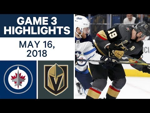 NHL Highlights | Jets vs. Golden Knights, Game 3 - May 16, 2018