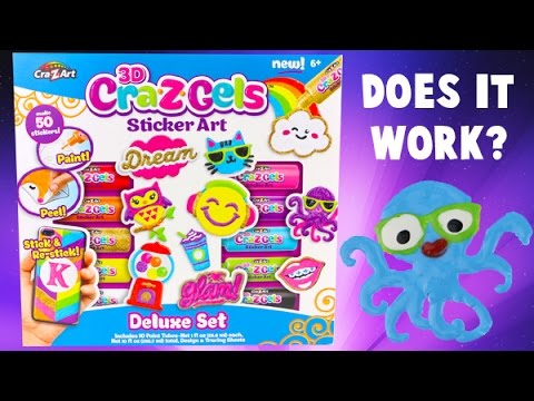 Cra Z Art Cra Z Gels Sticker Art- DIY Make Your Own Stickers!