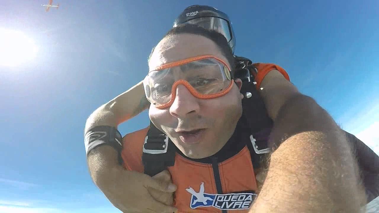 Salto de Paraquedas o Avelino na Queda Livre Paraquedismo 14 01 2017