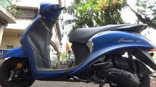 NEW BS IV YAMAHA FASCINO WITH AHO WALK AROUND REVIEW