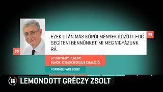 Lemondott országgyűlési mandátumáról Gréczy Zsolt, a DK képviselője 19-12-21