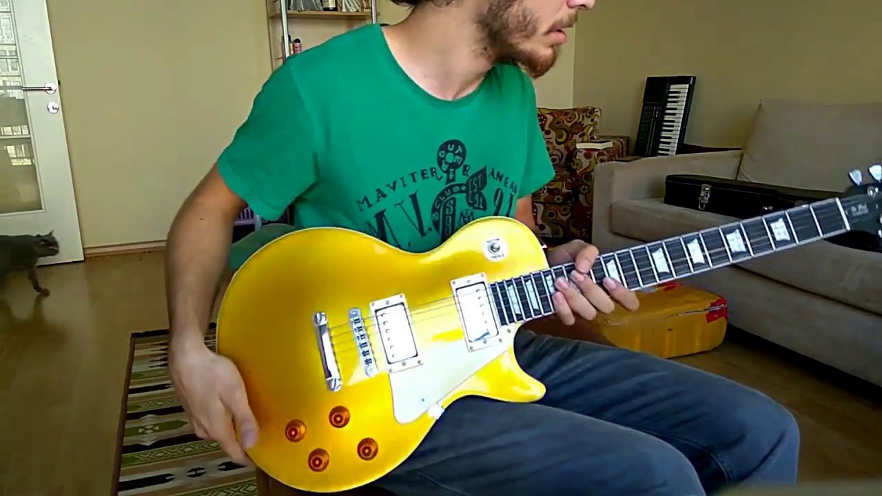 unboxing a chibson gibson les paul goldtop 39 59 custom from aliexpress youtube. Black Bedroom Furniture Sets. Home Design Ideas