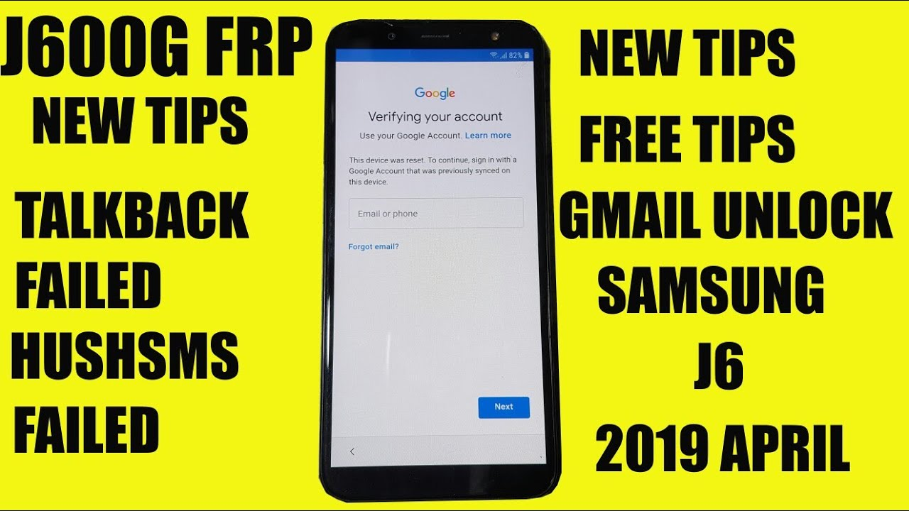 SAMSUNG J6 FRP BYPASS (TALKBACK,CALLING,HUSHSMS ALL METHOD FAILED) by  Tephas Mobile Tips