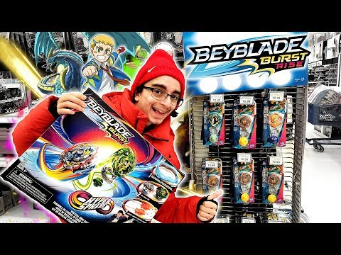 BEYHUNTING: RISE MADNESS! FINDING ALL OF WAVE 1 BEYBLADE BURST RISE! TOYSRUS CANADA