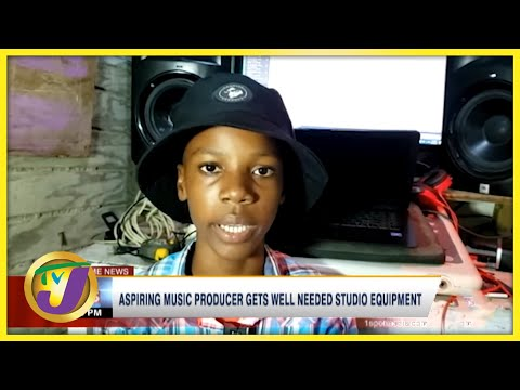 Aspiring Music Producer Gets well Needed Studio Equipment   TVJ News - Sept 20 2021
