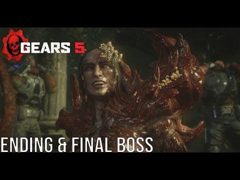 Gears 5 Ending & Kraken Final Boss Fight - (Gears Of War 5) #Gears5 Del Death Ending