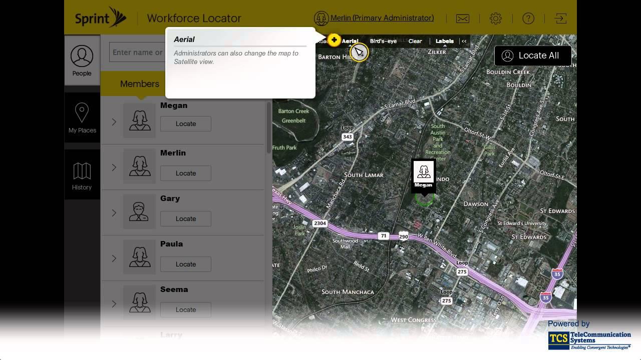 sprint workforce locator website