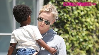Charlize Theron Takes Her Daughter August Out Shopping On Melrose Avenue 5.3.17