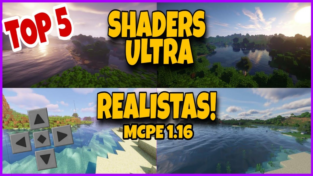TOP 5 Shaders ULTRA REALISTAS e LEVES para Minecraft pe 1.16! (SHADER MCPE)