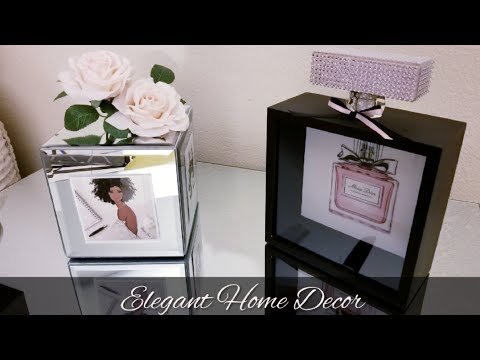 DIY | ELEGANT HOME DECOR | GREAT DECOR FOR ANY BEDROOM, GUEST ROOM, VANITY, VERY GIRLY