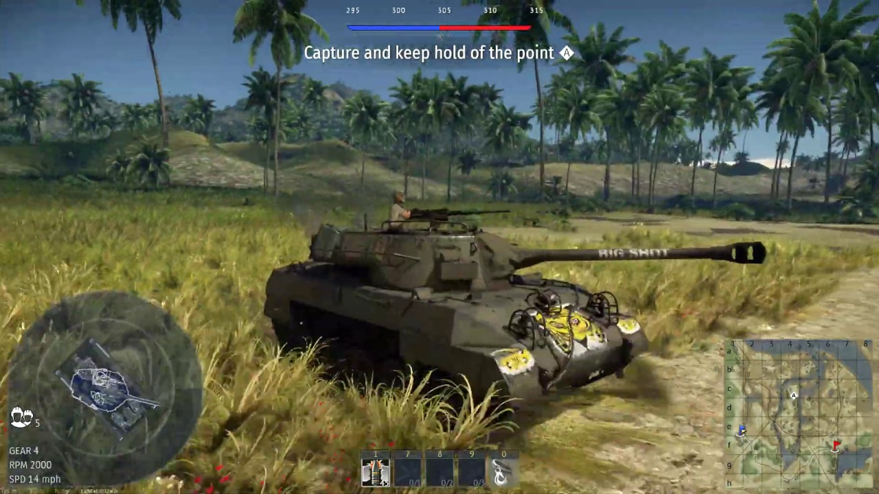 War thunder snow battle with pure german steel and jungle map with American tanks! - YouTube
