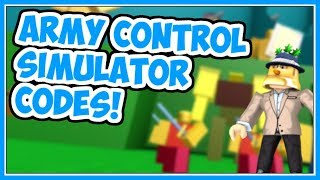 All Active Codes!! | Army Control Simulator - Roblox