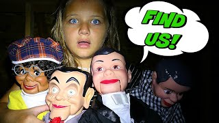 HIDE and Seek with Slappy and Slappy 39 s Family Slappy is Back Goosebumps in Real Life