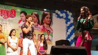खेसारी लाल यादव को अंजना सिंह ने जब चुम्मा ली तो देखिये - कैसे गाना गा कर उनको अपना प्यारा जबाब दिए