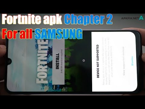 FORTNITE APK CHAPTER 2 BATTLE PASS New Season 11 Install All SAMSUNG Devices