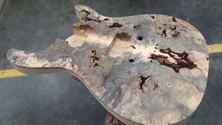 Kiesel Guitars Buckeye Burl Carved Top CT6 Getting Carved Out on the HAAS