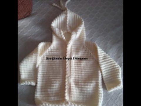 Kapşonlu Bebek Hırka Kaç İlmekle Başlanır