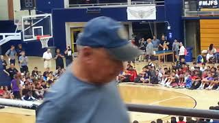 Michael Jordan leading a clinic at 2017 MJFS: Free throws