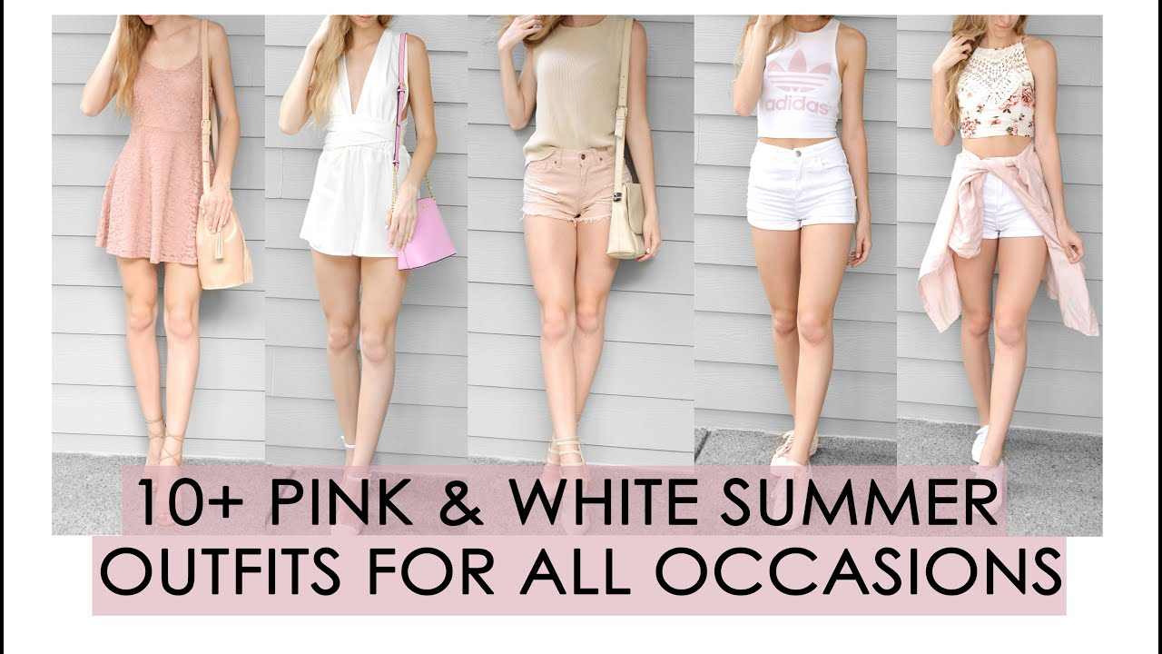 Summer LookBook // All Pink & White // 7+ outfits for all occasions //  Outfit ideas