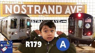 MTA Subway Train Ride On NEW R179 A SUBWAY Train To Jay Street Metrotech