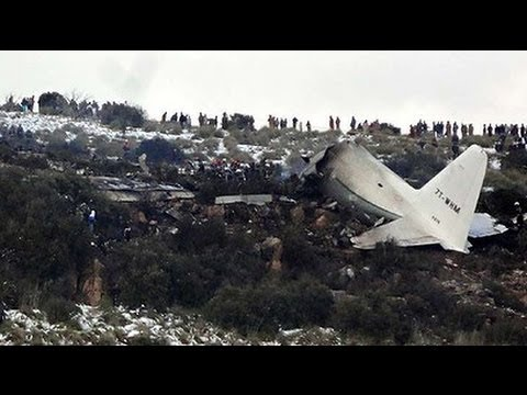 HORRIFYING AIRPLANE CRASH into MOUNTAIN in ALGERIA - SEE IT UP CLOSE