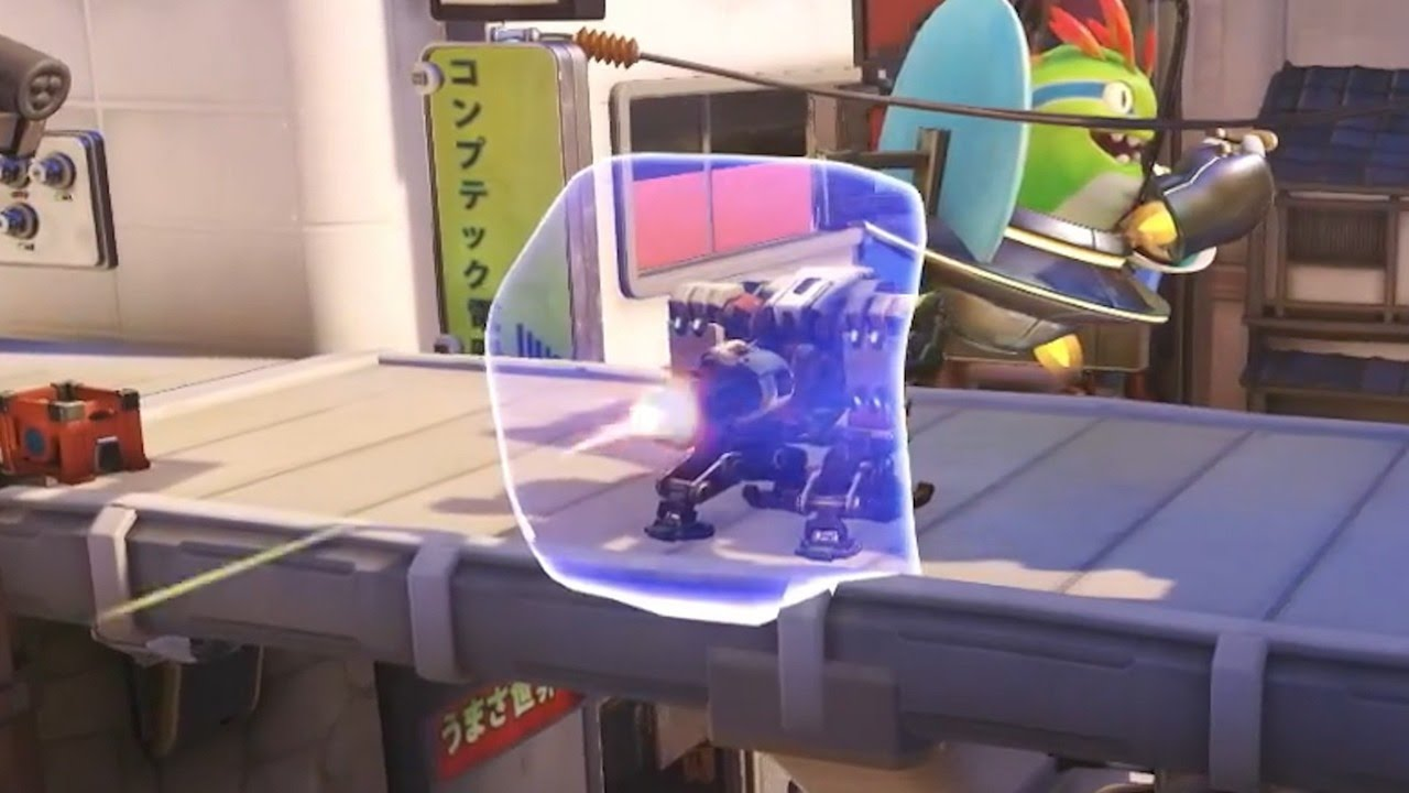 One of the early versions of Bastion gave him a personal barrier similar to Reinhardt's shield.