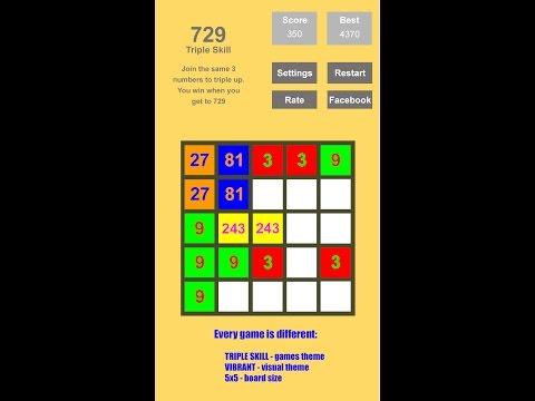 Tri-Sum 2048 Number Game 3x3 4x4 5x5 Double Triple Fibonacci Demo