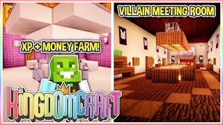 Villain Meeting Room & XP/Money Farm! | KingdomCraft Ep.35