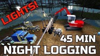farming simulator 2017 night logging new lights multiplayer