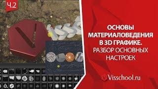 Материаловедение в 3D | Принципы настройки базовых шейдеров.