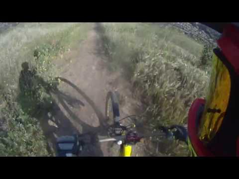 Single Track on edge of Really Deep Rut