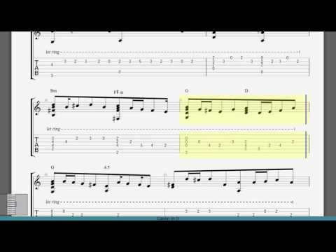 Guitar Tab - Canon in D