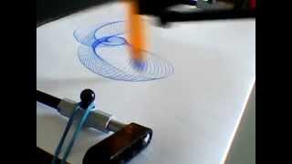 Spirograph 888 Lego Technic réglage 1E3 (r)- Lego drawing machine